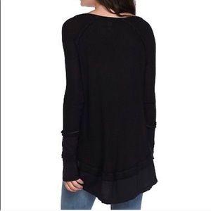 Free People black flowy long shirt NWT